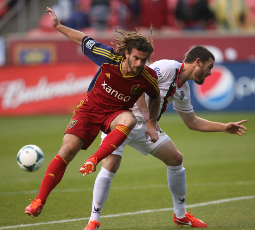 Steve Griffin | The Salt Lake Tribune  Real Salt Lake's Kyle Beckerman called his last time on the field with the U.S. team at Rio Tinto Stadium 'amazing,' and expects to have a similar experience Saturday when he steps on his home pitch against Cuba.