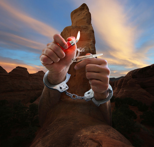 Francisco Kjolseth  |  The Salt Lake Tribune For a story on how more people are getting busted for smoking pot in national parks.  Photo illustration by Francisco Kjolseth