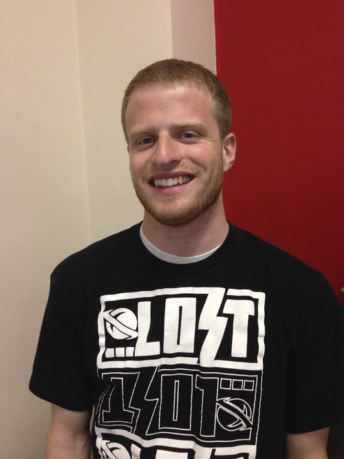 Scott Thatcher, 23, never really thought about living on campus at the University of Utah -- until this year. Courtesy photo.