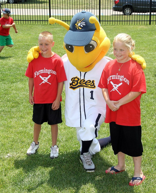Photo courtesy Burlington Bees  Each spring, area Elementary and Middle School students are able to enjoy a field trip to a game at Community Field.