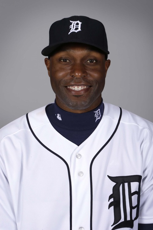 This is a 2013 photo of outfielder Torri Hunter of the Detroit Tigers baseball team.  This image reflects the Tigers active roster as of Tuesday, Feb. 19, 2013, when this image was taken. (AP Photo/Charlie Neibergall)