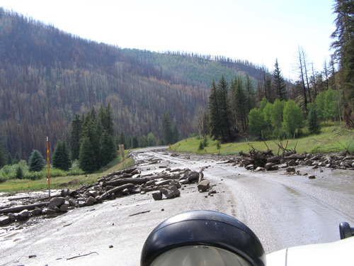 The view of some of the mud slide debris on SR-31 Wednesday morning. (UHP photo)
