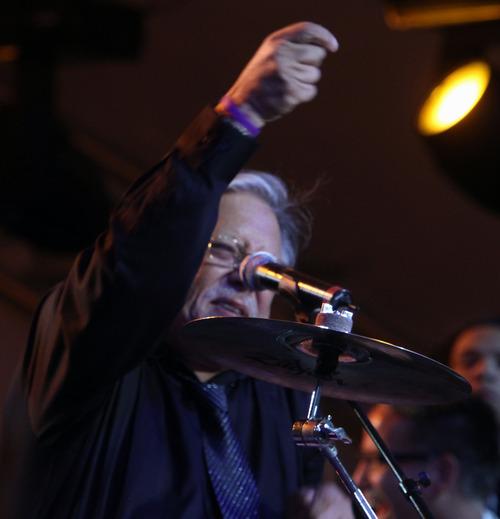 Rick Egan  | The Salt Lake Tribune   Arturo Sandoval performs with the Utah Symphony at Deer Valley Saturday, July 13, 2013.