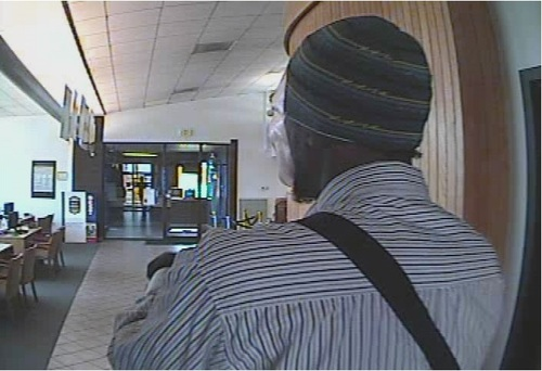 Courtesy South Salt Lake Police Department At 10:48 a.m. Thursday, a man wearing a transparent Halloween mask robbed the US Bank branch at 2700 S. 300 West with a black handgun, according to South Salt Lake police. A police spokesman said he might be the same robber who hit a Zions Bank branch in Salt Lake City last Thursday.