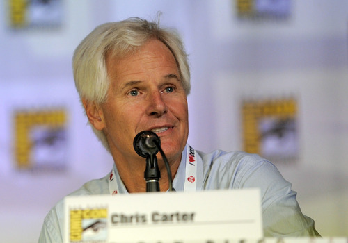 """Chris Carter attends the """"The X Files"""" 20th Anniversary panel on Day 2 of Comic-Con International on Thursday, July 18, 2013 in San Diego, Calif. (Photo by Chris Pizzello/Invision/AP)"""