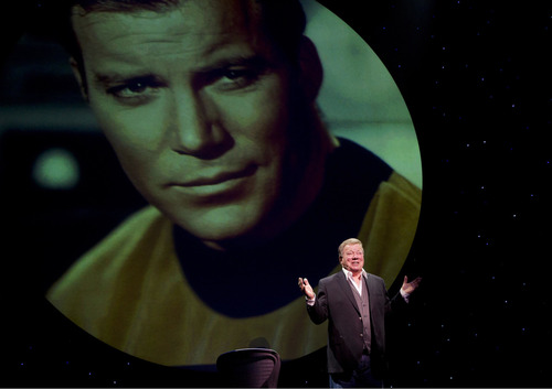"""William Shatner (shown here performing his one-man show 'Shatner's World: We Just Live In It"""" on Broadway) will appear at the first Salt Lake City Comic Con, set for Sept. 5-7. (Courtesy Joan Marcus)"""
