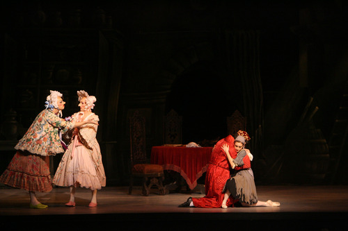"Steve Griffin   The Salt Lake Tribune Soloist Easton Smith, principal Christopher Ruud, demi-soloist Rex Tilton and first soloist Arolyn Williams perform in Ballet West's ""Cinderella"" on Feb. 13, 2013."