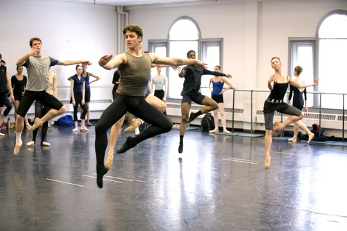Christopher Ruud (foreground) is a principal dancer in Ballet West and the artistic director of Ballet West 2. Courtesy photo