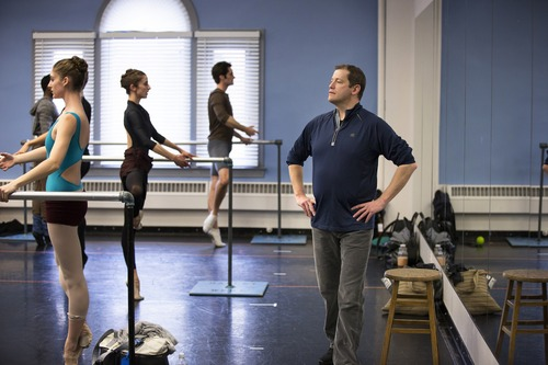 Ballet West artistic director Adam Sklute, right, at rehearsals. Courtesy photo