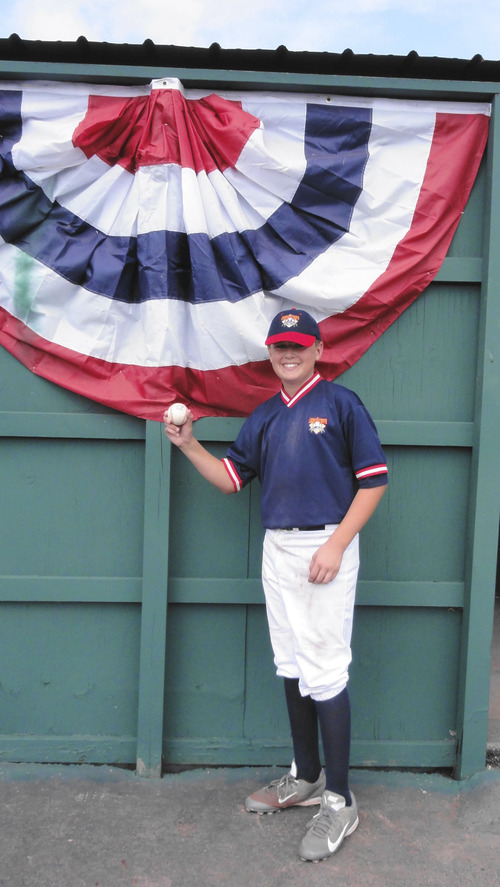 Courtesy photo. South Jordan's Ethan Fowlks in Cooperstown, N.Y., where he led the Salt Lake Sidewinders baseball team to a tournament championship.