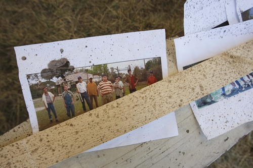 "Leah Hogsten  |  The Salt Lake Tribune Photos of scenes from the movie  ""The Sandlot"" were reviewed to construct a replica for the 20th anniversary celebration.  Community members, volunteers and crew from the Utah Film Commission replicated the movie set of ""The Sandlot"" at the original site where the movie was filmed, along 1386 Glenrose Avenue, Saturday, July 13, 2013."