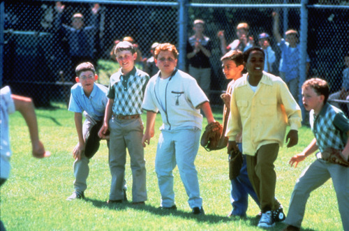 "Courtesy 20th Century Fox The sandlot players watch the action, in a scene from the 1993 baseball comedy ""The Sandlot."""