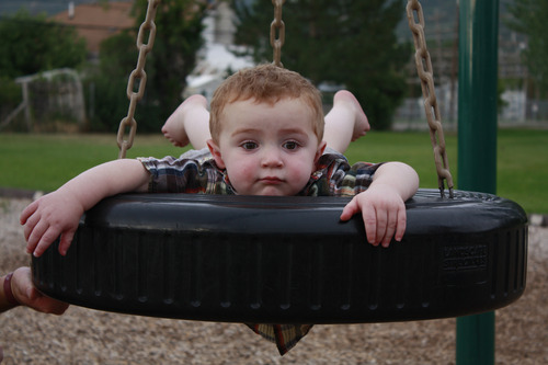 Photo courtesy of Robert Broadhead | Owen Kartchner enjoyed a swing at Fairview City Park days after his diagnosis with autism. The San Juan County toddler is among nearly 300 Utah kids picked in a lottery to receive free applied behavioral analysis (ABA) therapy.