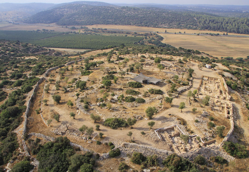 This undated aerial photo released by the  Israel Antiquities  Authority shows the archeological site in Khirbet Qeiyafa, west of Jerusalem. A team of Israeli archaeologists say they have discovered a palace used by King David at the site, a historic discovery that was quickly disputed by other members of the country's archaeological community. (AP Photo/SkyView, HOEP)