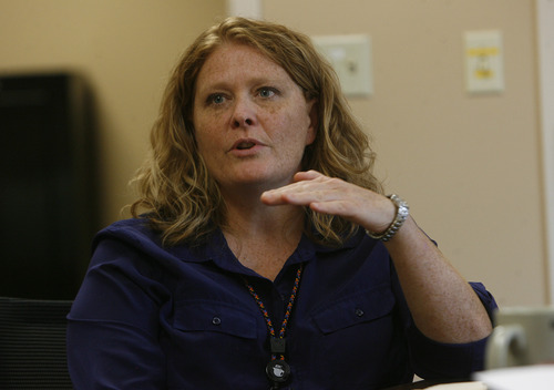 Scott Sommerdorf   |  The Salt Lake Tribune Regional Administrator Wendy Horlacher, Thursday, July 18, 2013. The Utah State Prison's female inmate population frequently exceeded capacity between January and July of this year. Administrators at the Orange Street Center are trying to address that problem.