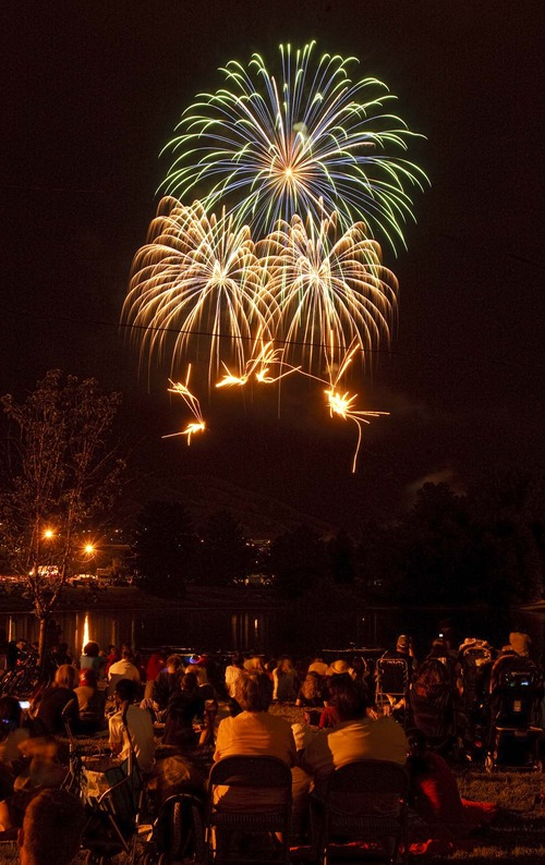 Trent Nelson     Tribune file photo Sugar House will hold a 30-minute fireworks display Thursday, July 4 at Sugar House Park in Salt Lake City.