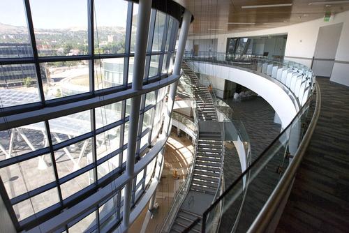 Paul Fraughton  |   Salt Lake Tribune    An interior view of the new Salt Lake Public Safety Building .                           Monday, July 1, 2013