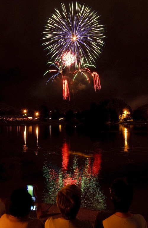 Trent Nelson  |  Tribune file photo Fireworks ring in Independence Day in Salt Lake City's Sugar House Park in 2010.