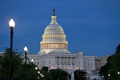 The U.S. Capitol is seen in Washington, D.C., on a recent summer night. (AP Photo/J. Scott Applewhite)