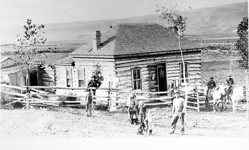 Salt Lake Tribune archive  Post office Otter, Utah near Antimony, circa 1870.