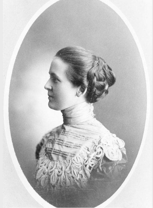 Photo Courtesy Utah State Historical Society  Katherine Fenton Nutter, wife of Preston Nutter, was a telegrapher and manager of the Colorado Springs Postal Telegraph Company's office during the Cripple Creek, Colorado mining boom.