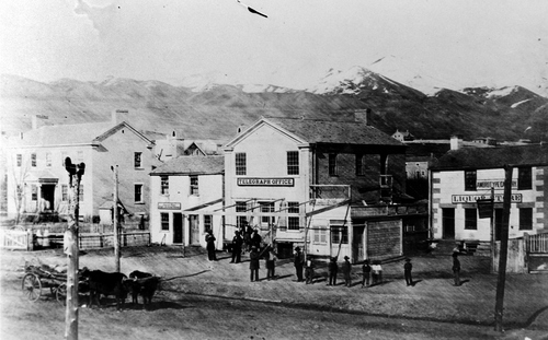 Salt Lake Tribune archive  Salt Lake telegraph office circa 1860.