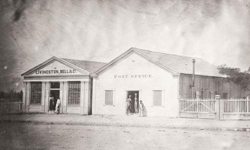 Salt Lake Tribune archive  Post office and Livingston Bell Merchants, Main St. 1864