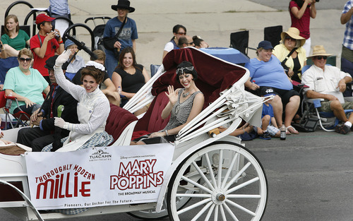 Scott Sommerdorf   |  The Salt Lake Tribune The Pioneer Day Parade, Wednesday, July 24, 2013.