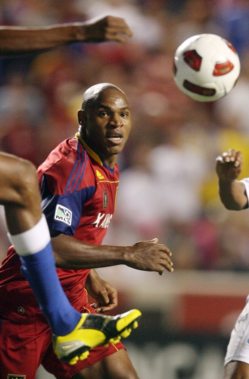 Steve Griffin     The Salt Lake Tribune   Real Salt Lake's Jamison Olave, now a member of the New York Red Bulls, faces his old team Saturday in New Jersey.