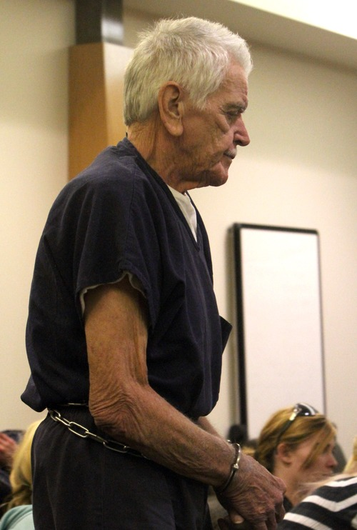 Rick Egan  | The Salt Lake Tribune   Charles Edward Dodd enters the Eighth District Court, in Duchesne, Thursday, October 13, 2011.  Dodd, 75, is charged with first-degree murder for the death of his ill wife. He allegedly tried to commit suicide after killing her.