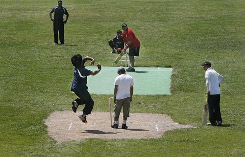 "Scott Sommerdorf   |  The Salt Lake Tribune Uday Tadiparty of ""Mind It"" bowls against ""Utah Challengers""  in Salt Lake City, Saturday, July 13, 2013."