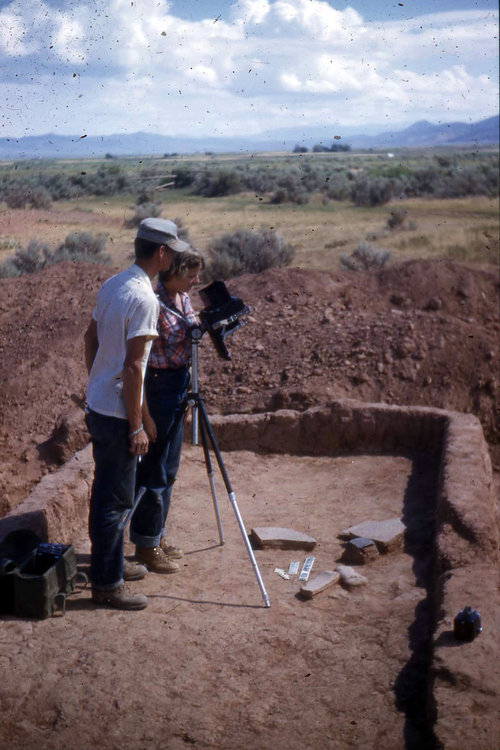 Photo courtesy of James McDonald, Southern Utah University  An image from 1950s-era excavations at an ancient Fremont village site in Paragonah, now being preserved by the non-profit Archaeological Conservancy.
