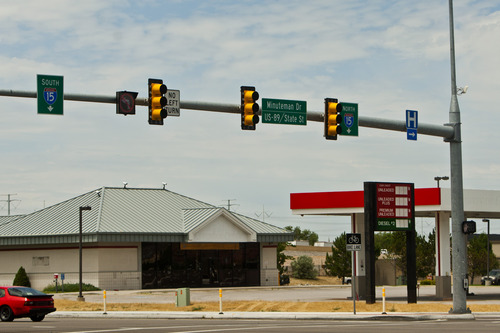 Chris Detrick  |  The Salt Lake Tribune The ThrU Turn intersection at 12300 South and Minuteman Drive in Draper Tuesday July 16, 2013.