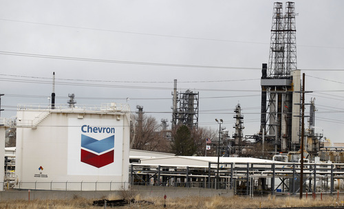 Al Hartmann  |  Tribune file photo Under a settlement announced Wednesday, Chevron has agreed to pay $384,000 in penalties for emissions violations at its Salt Lake City refinery at 2351 N. 1100 West.