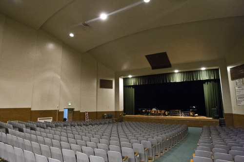 Chris Detrick  |  The Salt Lake Tribune The auditorium at West Jordan Middle School, which would be torn down under a preliminary plan for a $501 million bond in the Jordan School District. It would allocate $30 million to replace West Jordan Middle School and $16 million to replace West Jordan Elementary.