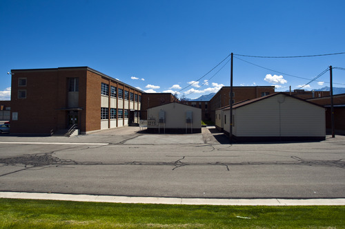 Chris Detrick  |  The Salt Lake Tribune Extra buildings added to help with crowding at West Jordan Middle School, which would be torn down under a preliminary plan for a $501 million bond in the Jordan School District. It would allocate $30 million to replace West Jordan Middle School and $16 million to replace West Jordan Elementary.