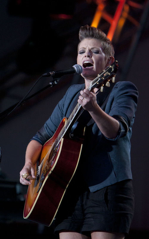 Steve Griffin | The Salt Lake Tribune   Natalie Maines performs during her concert at the Deer Valley Snow Park Amphitheater, in Deer Valley, Utah Tuesday July 30, 2013.