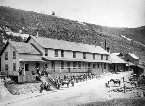 Salt Lake Tribune archive  Ontario House. was the boarding house at the Ontario silver mine in Park City, Utah around 1870.
