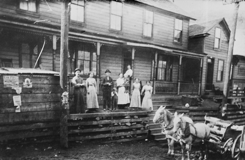 Salt Lake Tribune archive  A boarding house in Copperfield, Bingham Canyon in 1910.
