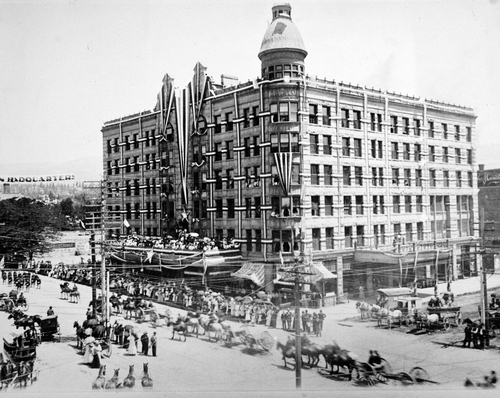 Salt Lake Tribune archive  The Knutsford Hotel was located on the northeast corner of State Street and Broadway in Salt Lake. In 1908 when this picture was taken, it was considered one of the finest hotels in the country.