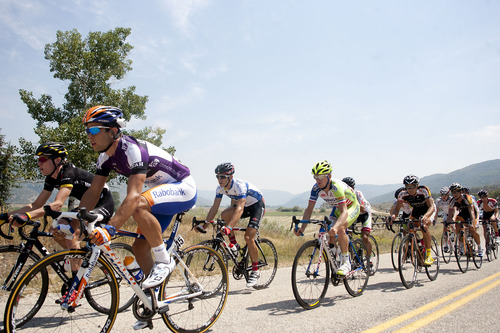 Jeremy Harmon     The Salt Lake Tribune  Riders compete during Stage 6 of the Tour of Utah on Sunday, August 12, 2012.