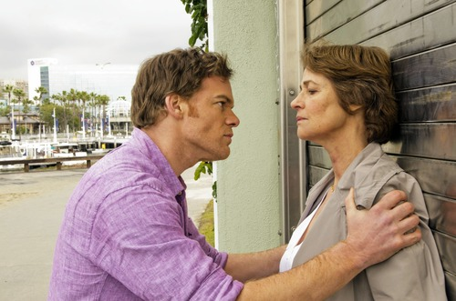 "Charlotte Rampling, right, joins Michael C. Hall for the eighth and final season of ""Dexter."" Courtesy photo"