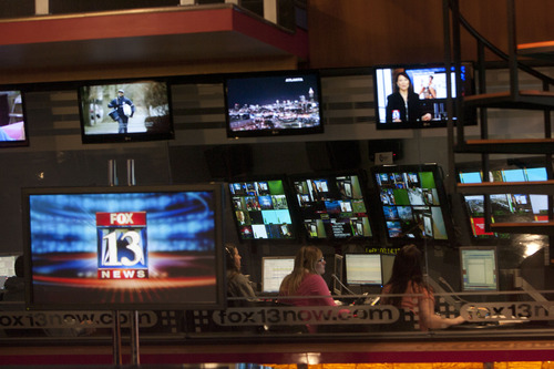 Steve Griffin | The Salt Lake Tribune   The KSTU control room during the five o'clock news at the KSTU studios in Salt Lake City, Utah Tuesday February 26, 2013.