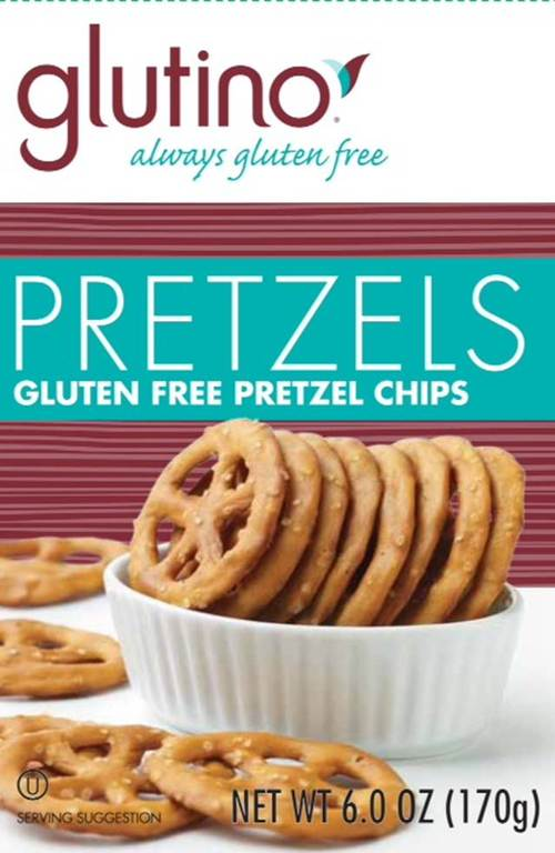 """This undated handout photo provided by the Food and Drug Administration (FDA) shows a gluten free labeling on a box of pretzel chips. Consumers are going to know exactly what they are getting when they buy foods labeled """"gluten free."""" The FDA is at last defining what a """"gluten free"""" label on a food package really means after more than six years of consideration. Until now, manufacturers have been able to use their own discretion as to how much gluten they include. Under an FDA rule announced Friday, products labeled """"gluten free"""" still won't have to be technically free of wheat, rye and barley and their derivatives. But they almost will: """"Gluten-free"""" products will have to contain less than 20 parts per million of gluten. (AP Photo/FDA)"""