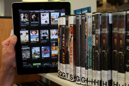Rick Egan  |  The Salt Lake Tribune  The Salt Lake County Library is now tapping into the latest frontier of digital content by making streaming and downloadable movies available for loan to patrons.