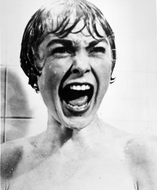 """Salt Lake Tribune archive  Janet Leigh in the Alfred Hitchcock classic """"Psycho."""""""