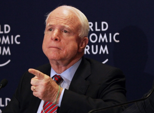 AP file photo Sen. John McCain, R-Ariz. has been sharply critical of the the threat of Sen. Mike Lee and others to shut down the government if they can't strip funding from Obamacare.