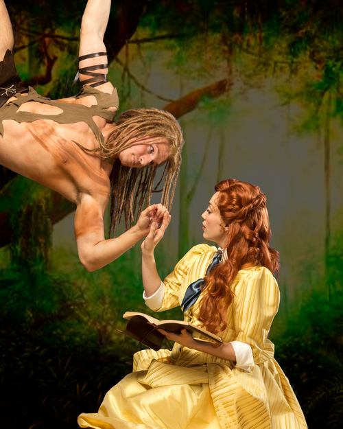 """Credit:  DC Snaps  Hale Center Theatre's upcoming production of  """"Tarzan"""" features Bradley Lever and Megan Heaps. The acting couple is engaged in real life."""