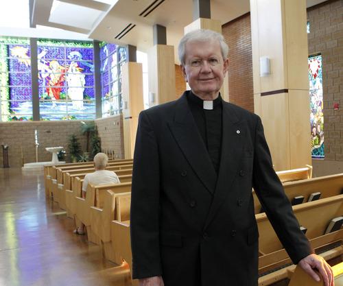 Al Hartmann  |  The Salt Lake Tribune Monsignor Terence Moore, pastor of Saint John the Baptist Parish in Draper, is retiring after serving 46 years in the Salt Lake City Diocese.