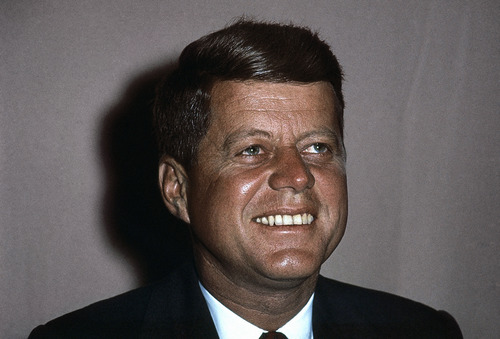 Head shots of John F. Kennedy. (AP Photo)